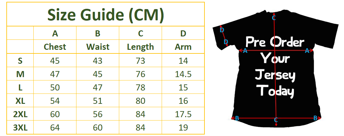 55938b794b3 ... Sevens Series; This is a players jersey and therefore we suggest order  at least one size up from your normal size for a more comfortable fit